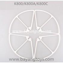 KOOME K800 K800C Quadcopter blades Guards white