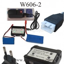 Huajun W606-2 Quadcopter battery and charger