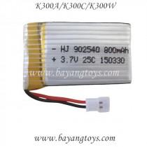 KOOME K300 WIFI FPV Quadcopter battery 800mAh