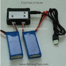 SJRC T-series T70cw quadcopter charger battery