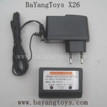 BAYANGTOYS X26 Parts EU Plug Charger With Balance Box