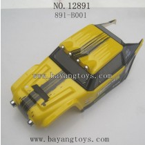 HAIBOXING 12891 Parts-Car Shell Yellow
